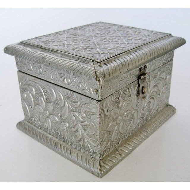 Vintage Embossed Keepsake Box - Image 4 of 8