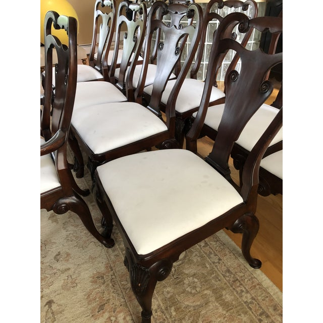 Brown Ralph Lauren for Henredon Beekman Mahogany Dining Chairs - Set of 12 For Sale - Image 8 of 13