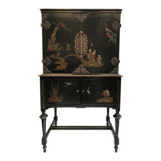 1920s Art Deco American Asian Style Cabinet For Sale