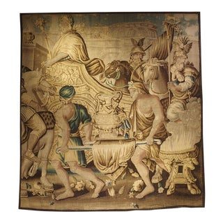 Circa 1710 Silk and Wool Aubusson Tapestry, the Entry of Alexander Into Babylon For Sale