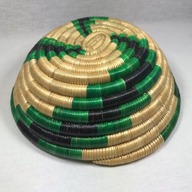 Handmade African Grass Basket - Image 9 of 11