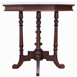 19th-C. English Victorian Marble Top Table
