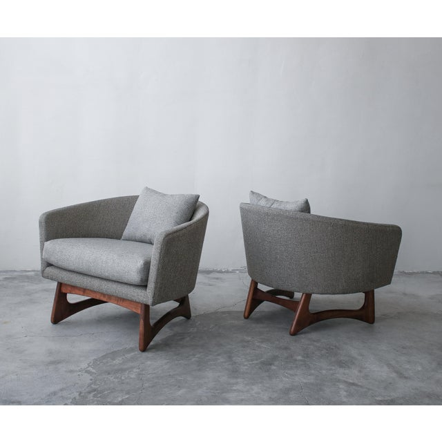 Craft Associates Mid-Century Lounge Chairs by Adrian Pearsall for Craft Associates - a Pair For Sale - Image 4 of 7
