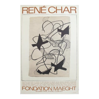 "1971 French ""Rene Char at Fondation Maeght"" Exhibition Poster"
