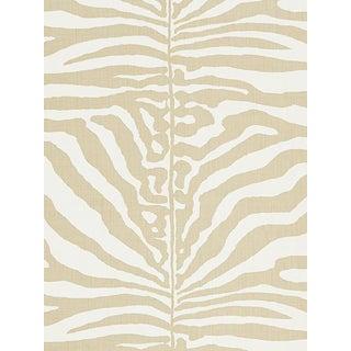 Sample, Scalamandre Zebra, Sahara Fabric For Sale