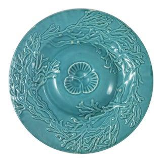 Majolica Aqua Seaweed Plate