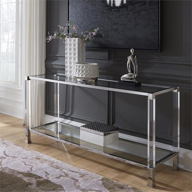 Contemporary Kenneth Ludwig Chicago Claire Console Table For Sale - Image 3 of 5
