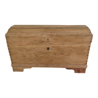 Primitive Country Pine Dome Top Blanket Chest For Sale
