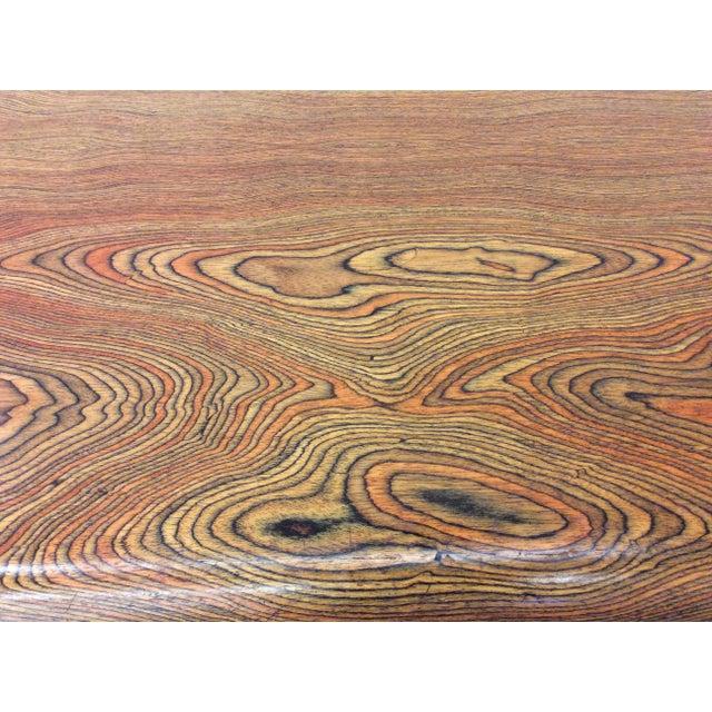 Chrome Peter Protzman for Herman Miller Exotic Zebrawood Desk For Sale - Image 7 of 11