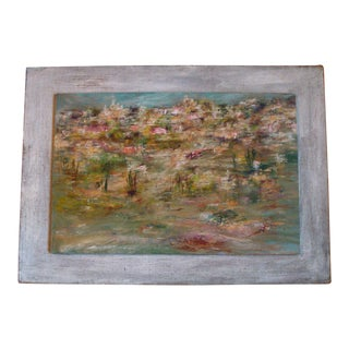 Abstract Landscape Painting Cityscape 1964 For Sale