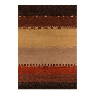 Contemporary Momeni Desert Gabbeh Hand Knotted Multi Wool Area Round Rug - 8' X 8'