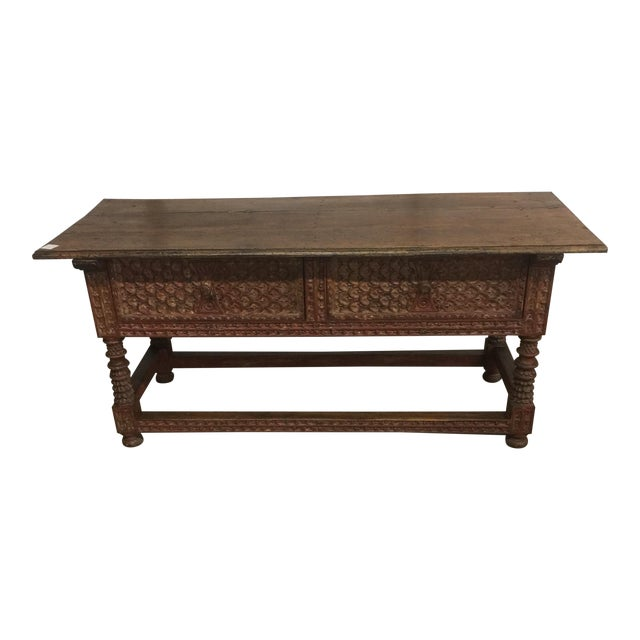 Peruvian Carved Console Table - Image 1 of 5