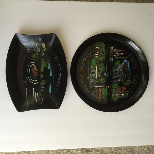 Plastic Tennessee Mid-Century Souvenir Trays - A Pair For Sale - Image 7 of 11