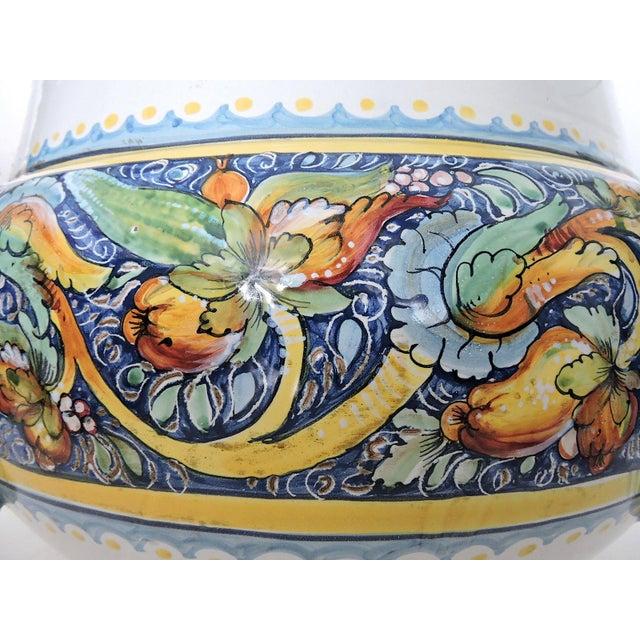 Ceramic Magnificent Vintage Italian/Sicilian Ceramic Jardiniere, Planter or Coffee/Side Table For Sale - Image 7 of 7