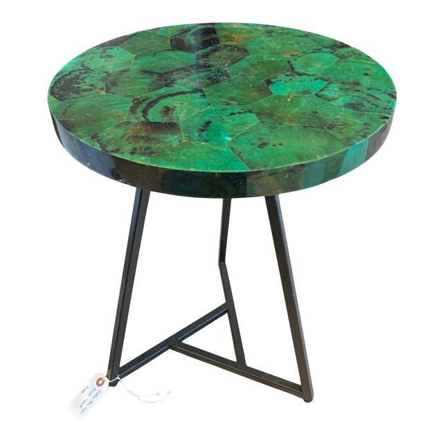 Contemporary Capiz Side/Cocktail Table For Sale