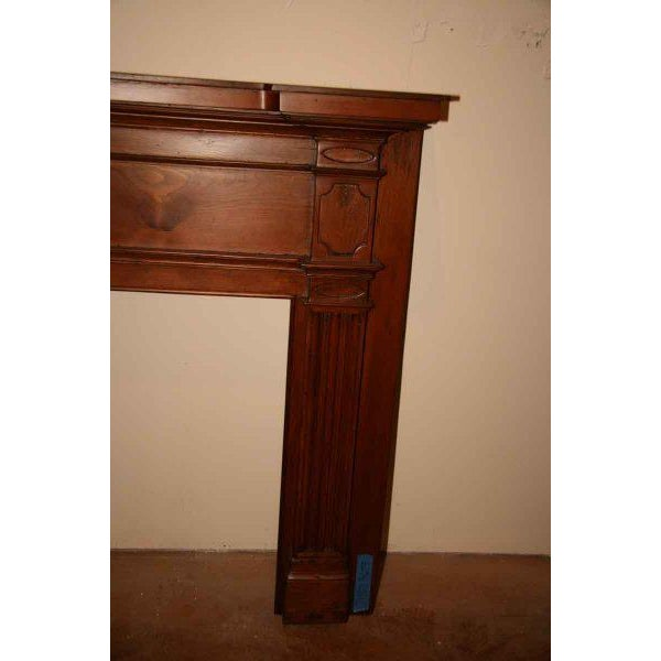 Federal 19th Century American Pine Mantel For Sale - Image 3 of 5