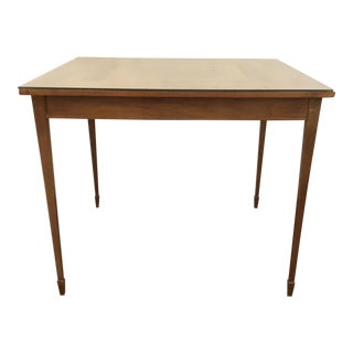 Mid-Century Modern Vintage Wood and Glass Game Table For Sale