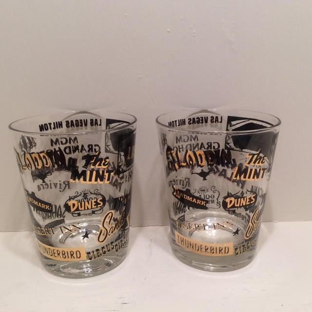 Mid Century Las Vegas Tumbler Glasses - A Pair - Image 4 of 7