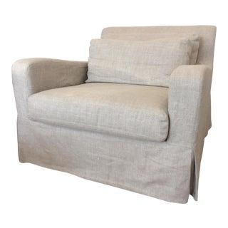 Restoration Hardware Belgian Slope Arm Slipcover Chair