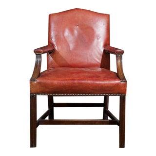 Georgian Style Mahogany Armchair For Sale