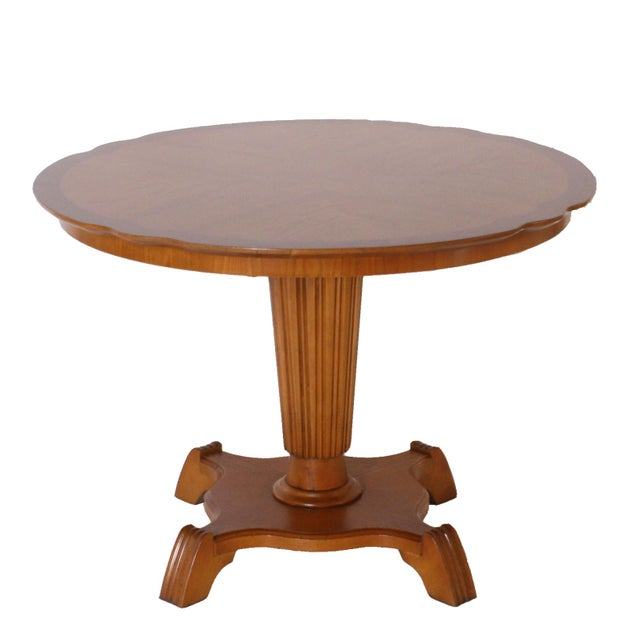 Regency Round Elm Tables With Pedestal, C. 1920 - a Pair For Sale - Image 3 of 6