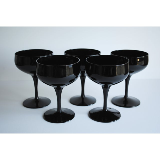 Vintage Black Cocktail Coupes - Set of 5 - Image 4 of 5