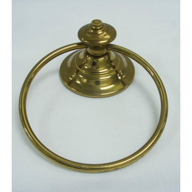 Metal Mid-Century Modern Brass Towel Ring For Sale - Image 7 of 7