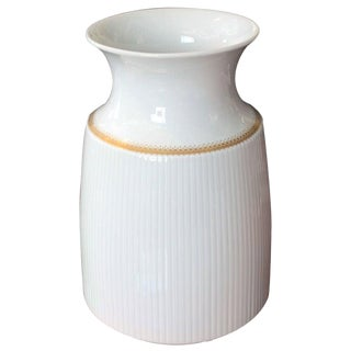 Rosenthal Porcelain Vase With Gold Band For Sale