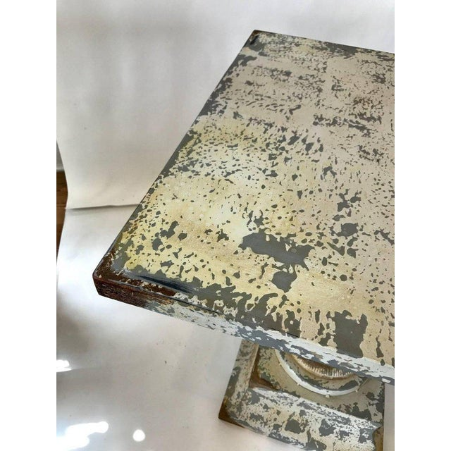 Zinc Garden Table For Sale - Image 4 of 7