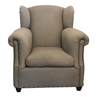 Modern Ralph Lauren Wingback Lounge Chair For Sale