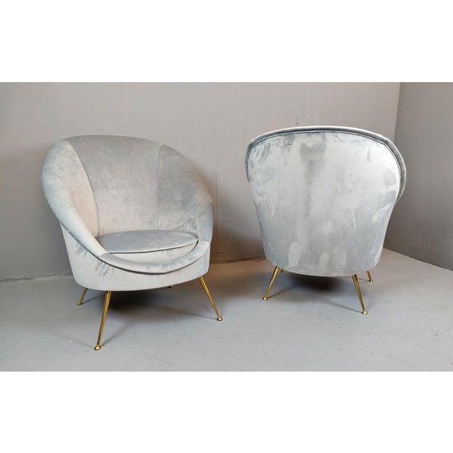 Mid-Century Modern Italian Mid-Century Armchairs - a Pair For Sale - Image 3 of 12
