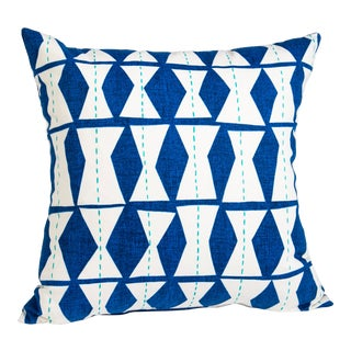 Big Blue Diamond Pillow For Sale