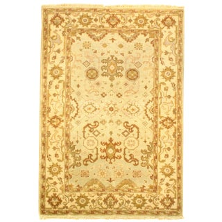 """Pasargad Ny Original Oushak Design Hand-Knotted Rug - 4' X 5'11"""" For Sale"""
