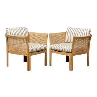 1960s Danish Modern Illum Wikkelsø Plexus Easy Chairs - a Pair For Sale