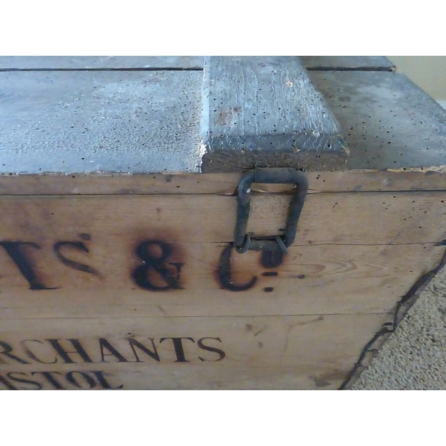 Brown Vintage English Wooden Wine Crate For Sale - Image 8 of 9