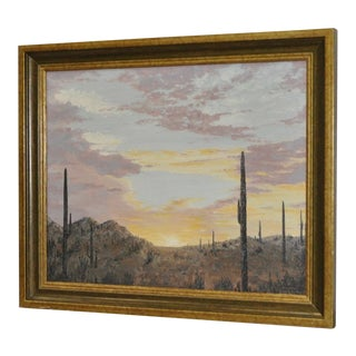 Sonoran Desert Landscape Painting by McConnell