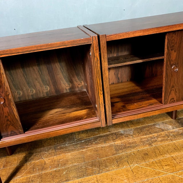 Peter Sorenson Double Low Rosewood Credenza, Denmark 1950s For Sale In New York - Image 6 of 11