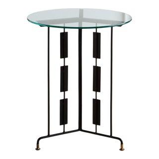 Matte Black Sculptural Accent Table For Sale