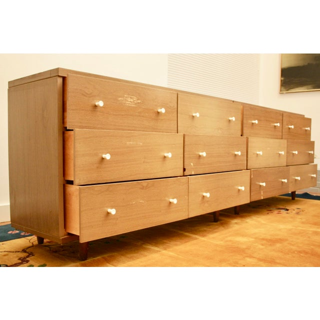 Midcentury Modern 6-Drawer Dressers, a Pair - Image 5 of 11