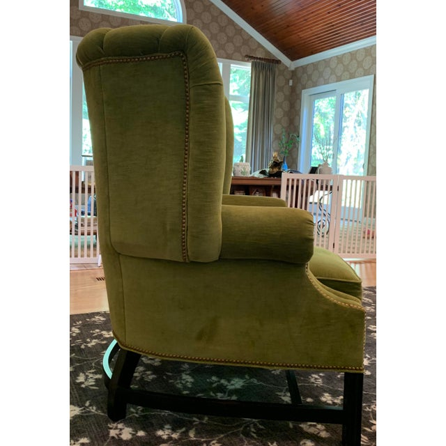 2010s Century Furniture Artesia Wingback Chairs- A Pair For Sale - Image 5 of 13