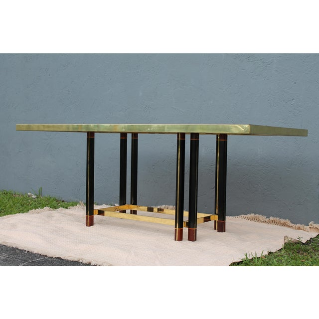 "Paola Barachia ""Roman Deco Spa"" Italian Mastercraft Style Dining Table For Sale - Image 5 of 11"