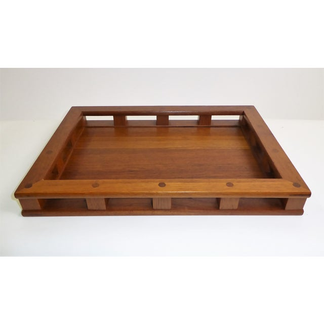 Danish Modern Dansk IHQ Modern Teak Tray with Glass Inserts, Quistgaard, Denmark For Sale - Image 3 of 13
