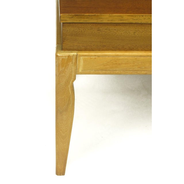 "Contemporary John Van Koert ""Casa Del Sol"" Parquetry Walnut End Table with Opening Top For Sale - Image 3 of 9"