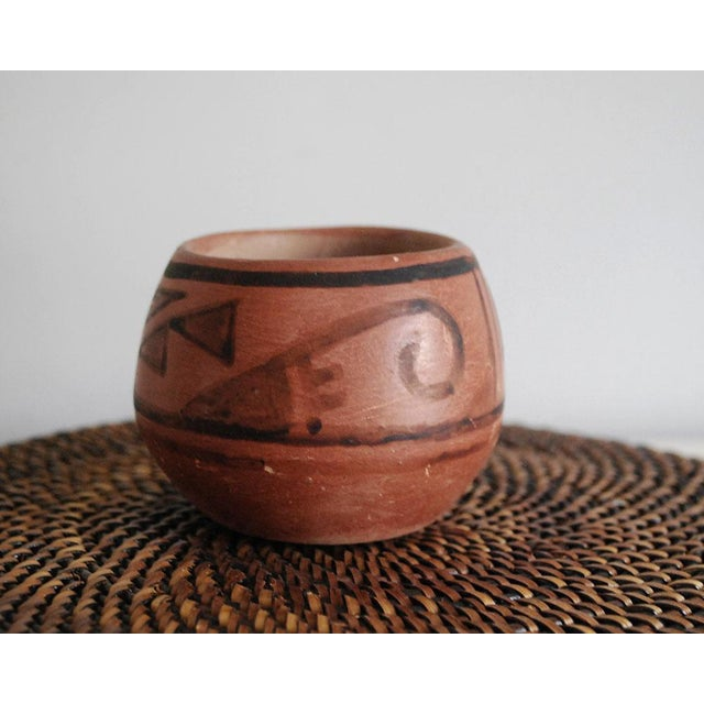 Native American San Ildefonso Black on Red Native American Pottery Vase For Sale - Image 3 of 7