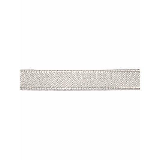 Traditional Scalamandre Montauk Herringbone Tape, Silver Grey Fabric For Sale - Image 3 of 3