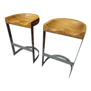 Pair of Barstools by Warren Bacon