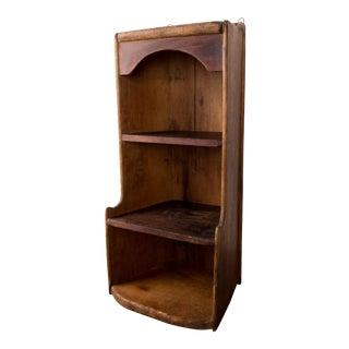 20th Century Primitive Wooden Shelf For Sale