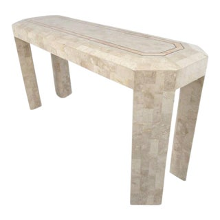 Tessellated Stone Console Table After Maitland Smith For Sale