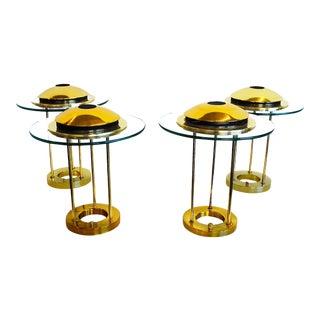 4 Kovacs Mid-Century Sonneman Saucer Desk Lamps For Sale