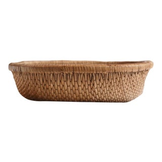 Late 19th Century Asian Reed Basket For Sale